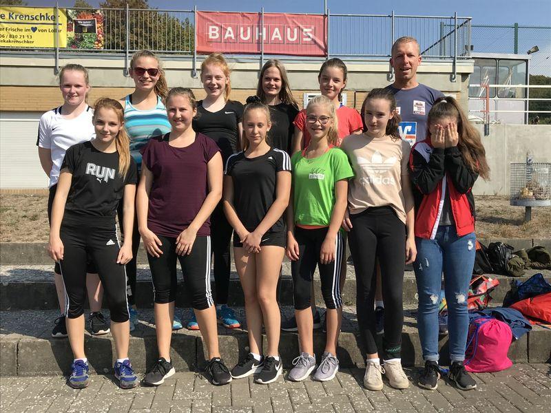 Leichtathletik Mädchen belegten den Bronze Platz