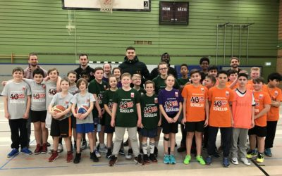 Anne-Frank-Schule bei Basketball Schulliga mit Mixed- und Mädchenteam am Start – 46ers Rackelos als Stargäste